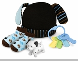 Baby Boys Blue Dog Cap & Socks Set