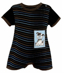 Baby Boys Blue Dog Short Romper