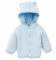Baby Boys Blue Hooded Cardigan - sold out
