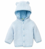 Baby Boys Blue Hooded Cardigan