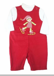 Baby Boys Christmas Overall Set - Elf