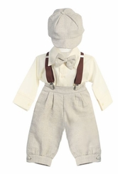 Baby Boys Dress Clothes - Linen Pant Set with Hat (coming soon)