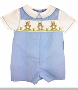 Baby Boys Easter Bunny Smocked Romper with Shirt
