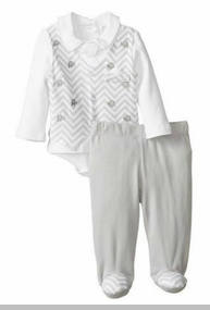 Baby-Boys Grey Chevron Vest and Pant Set