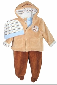 Baby Boys Velour Take Me Home Jacket Set 3 Pc