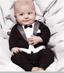 Baby Boys Knit Tuxedo Coverall - Baby Tuxedo Romper - OUT OF STOCK