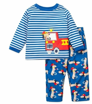 Baby Boys Pajamas Fire Truck Rescue Dog