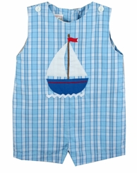 Petit Ami Baby Boys Sailboat Shortall