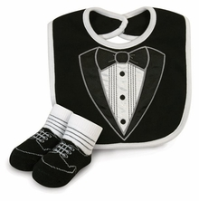 Baby Boys Tiny Tux Bib Set