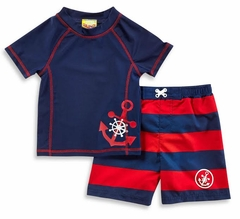 Baby Buns Baby Boys' Anchor Rash Set