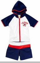 Baby Buns Baby Boys Lifeguard Swim Trunk & Coverup Set