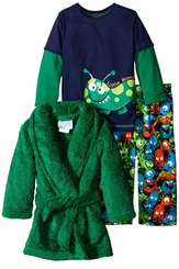 Baby Buns Baby-Boys Little Monster Robe Pajamas Set