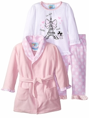 Baby Buns Baby Girls Paris Dreamer Robe Pajama Set
