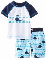 Baby Buns Boys  Rashguard and Swimtrunk Lazy Whales