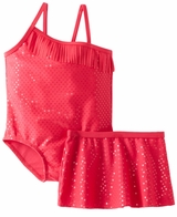 Baby Buns Girls Sparkle Jane One-Piece Swimsuit With Fringe