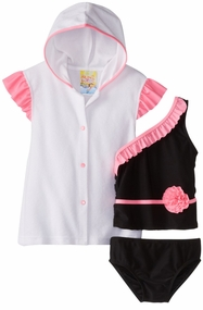 Baby Buns Girls Tiffany Rose Tankini and Coverup Set 12 months