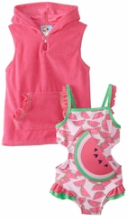 Baby Buns Girls Watermelon Splash One Piece Swimsuit - SOLD OUT
