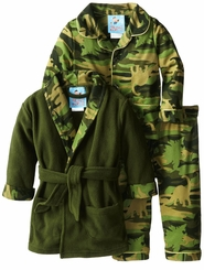 Baby Buns Little Boys Infant Dino Camo 3 Piece Pajama Set
