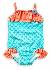 Baby Buns Baby Girls 1-Piece Mermaid Swimsuit W13698 - Out Of Stock
