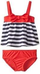 Baby Buns Little Girls' Stripe Nautical Bow Tankini Set
