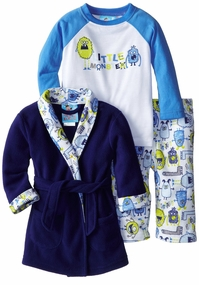 Baby Bunz Little Boys Little Monster 3 Piece Pajama Set