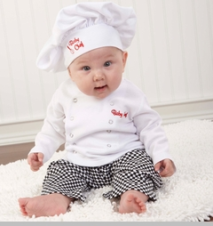 Baby Chef Gift Layette Set - 3 Pieces in Culinary Gift Box - Out of Stock