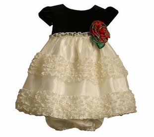 Baby Dress - Ivory and Black  18 MONTH - SOLD OUT