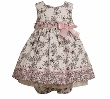 Baby Dress : Pink Butterfly Toile Dress - sold out