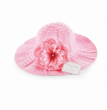 Baby Easter Hat or Sunhat  - Pink Ribbon Flower  -sold out
