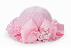 Baby Easter Hat - Princess Pink Seersucker Sun Hat - Baby Sun Hat  SOLD OUT