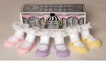 Baby Gift Box  Included!  Girls Patisserie Sock Collection - 3 pairs - out of stock