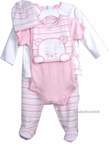 Baby Gift - Sterling Baby 6 Pc Gift Set - Pink Teddy