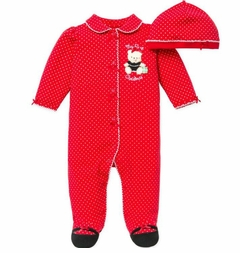 Baby Girl Christmas Outfit - My 1st Christmas Footie and Hat