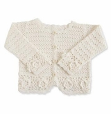 Baby Girl's White Crochet Sweater