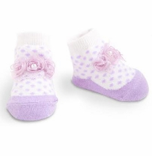 Baby Girl Socks - Lavender Rosette Socks - SOLD OUT
