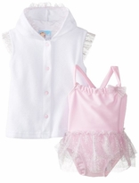 Baby-Girls Ballerina Ruffle Swimsuit and Coverup