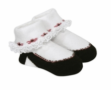 Baby Girls Black High Heel Socks