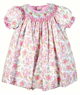 Baby Girls Garden Floral Smocked Dress and Bloomer - SOLD OUT
