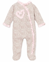 Baby Girls Leopard Footie