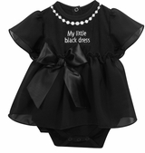 Baby Girls Little Black Dress Snapdress - SOLD OUT