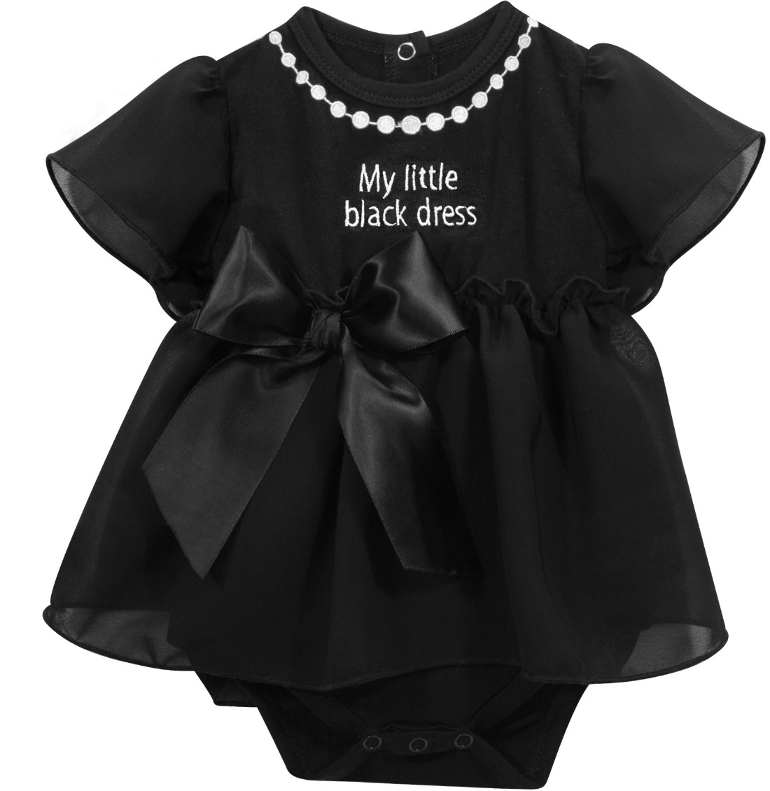 Baby girls little black dress snapdress sold out