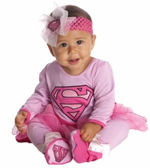 Baby Girls Pink Supergirl Tutu Costume with Headband
