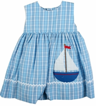 Baby Girls Sailboat Sundress with Bloomer