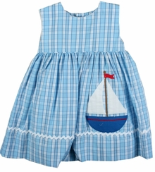 Petit Ami Infant Girls Sailboat Sundress with Bloomer 18 months