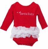 Baby Girls One Piece Santa Baby Tutu Outfit