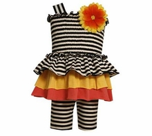 Baby Girls Smocked Stripe Daisy Short Set 3-6 months last one