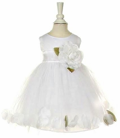 Baby Girls White Tulle Special Occasion Dress