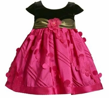 Baby Party Dress  Fuchsia Taffeta 24 months