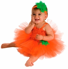 Baby Pumpkin Tutu Dress Costume