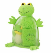 Baby Shower Gifts - Frog Bath Towel Gift Set